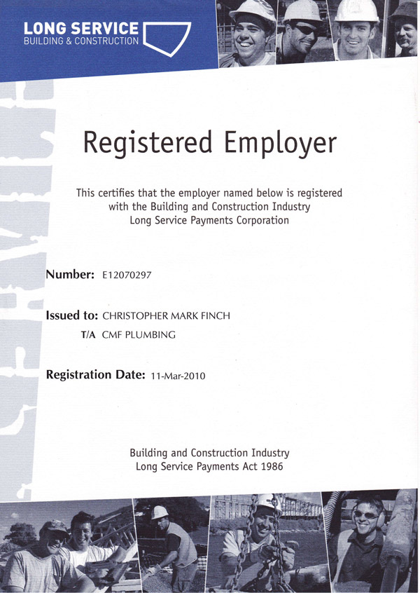 Registered Employer - Building & Construction Industry