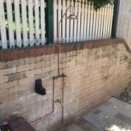 CMF install outdoor shower at Cremorne