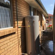 Rheem mains pressure hot water unit to replace gravity fed at North Ryde.