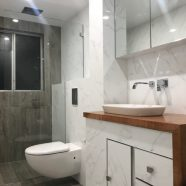 Bathroom renovation at Freshwater  by CMF Plumbing
