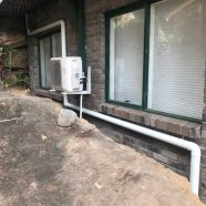 Gutter and downpipe at North Epping by CMF Plumbing