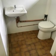 New toilet and basin at Linfield