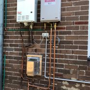 Gas meter up grade and new hot water unit at Denistone East